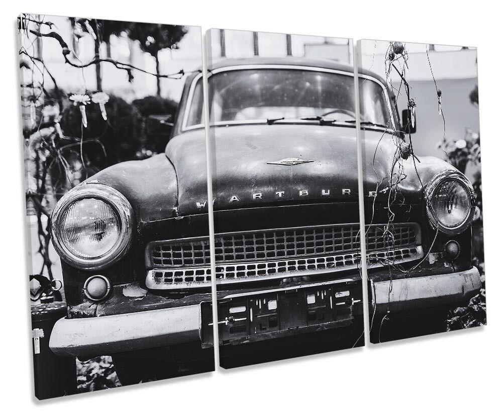 Wartburg vintage old car incorniciato Treble stampa art. art. art. a muro a9cdfd