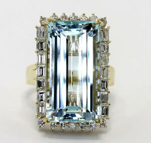 Diamond-aquamarine-halo-estate-ring-18K-YG-rectangle-baguette-round-brill-21-9CT