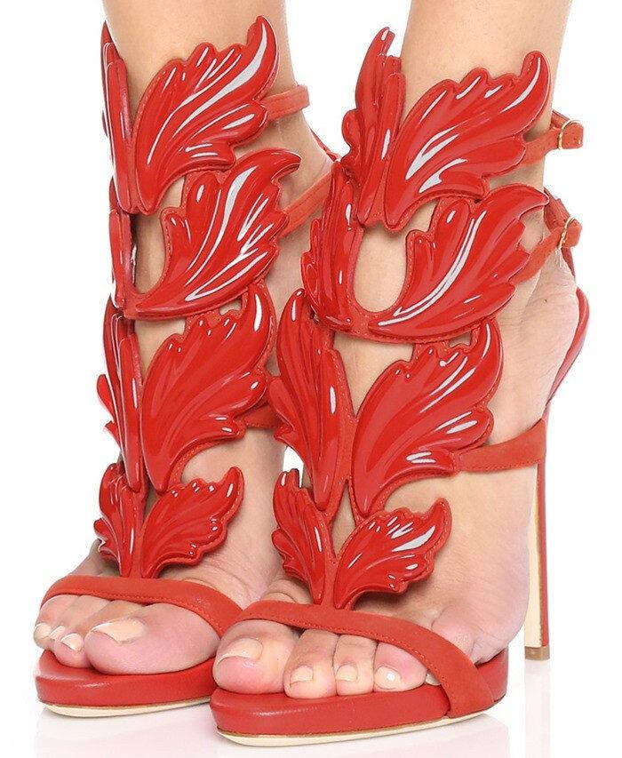 Gladiator 13 cm Sexy ROT rot peeptoes high fetish sky Sandales high peeptoes heels 43 42 us11 baf013