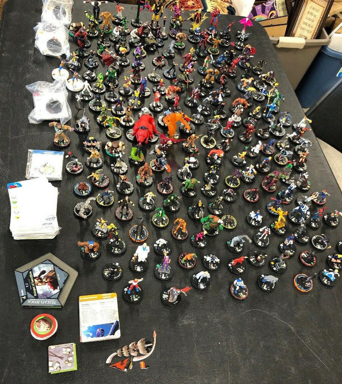 Gran Lote De 200+ Heroclix Surtidos Mezcla de todos los caracteres con tarjetas, gamepieces