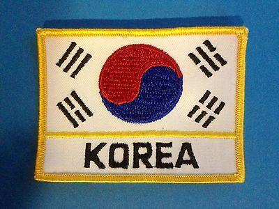 Vintage 1970/'s Tae Kwon Do Korea Flag Martial Arts MMA Uniform Patch Crest 469