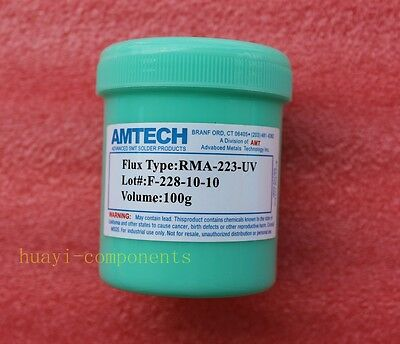 100g AMTECH RMA-223-UV Flux Soldering Paste New