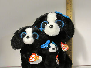 7fac5abe436 Details about 3 pc Lot SET TY Tracey the dog BEANIE BOOS buddy M sz   Reg  Boo   Clip