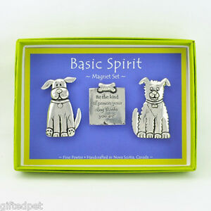Handcrafted-Pewter-Dog-Quote-Boxed-Magnet-Set-by-Basic-Spirit