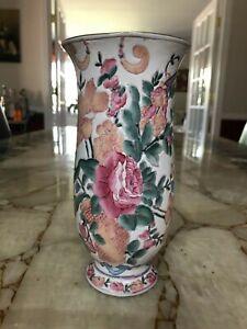 Vintage-Asian-Floral-Design-Satsuma-Style-Vase
