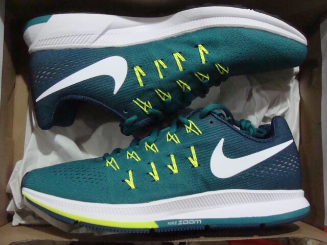 abc54b655770 Nike Air Zoom Pegasus 33 Green White Mens Cushion Running Shoes ...
