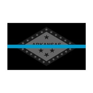 Arkansas-AR-State-Flag-Thin-Blue-Line-Police-Sticker-Decal-242-Made-in-U-S-A