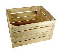 3x Obstkisten Aus Holz Natur (50x40x30 Cm) Weinkisten Holzkisten
