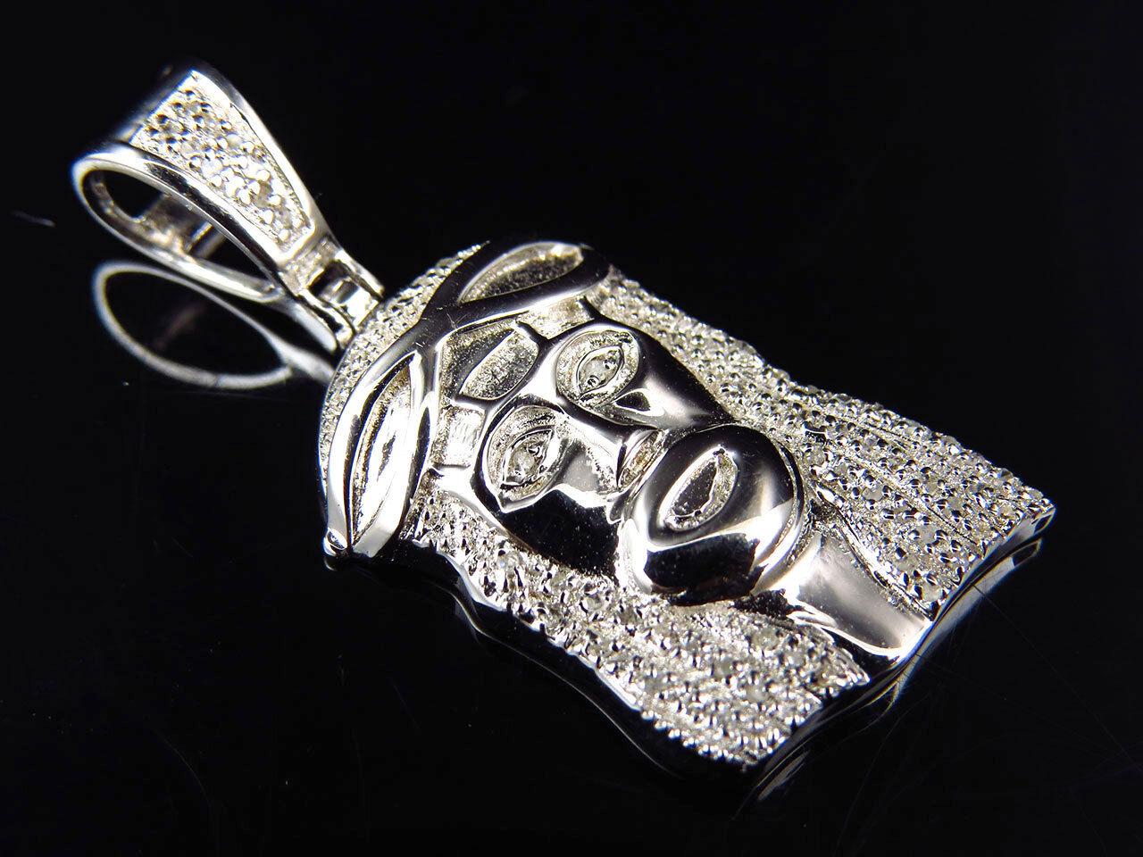 Genuine Diamond Cautious Jesus Piece Pendant In White gold Finish 0.50Ct 1.25
