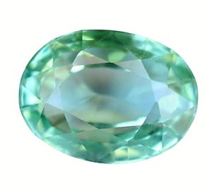 AAA+ 13.45 Ct Natural Green MONTANA Sapphire Flawless Oval Cut Certified Gem