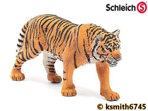 Schleich Tigre solide Jouet en plastique Wild Zoo Animal Chat Feline Predator NOUVEAU *