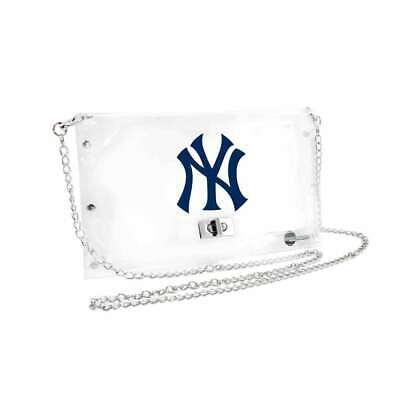 Baseball & Softball Aufstrebend New York Yankees Durchsichtiger Umschlag Geldbörse,mlb Umhänge Stadion Geprüft Exquisite Traditionelle Stickkunst Fanartikel