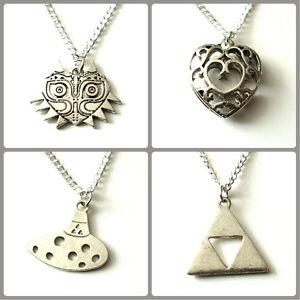 The legend of zelda pendant necklace 18 inch chain silver coloured la imagen se est cargando la leyenda de zelda collar colgante 18 pulgadas aloadofball Choice Image