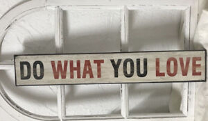 Holzbild-Wandbild-DO-WHAT-YOU-LOVE-Shabby-Chic-Vintage-Landhausstil-60x2x10-cm