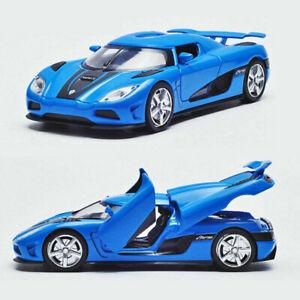 Koenigsegg-Agera-R-1-32-Metall-Die-Cast-Modellauto-Blau-Spielzeug-Model-Sammlung