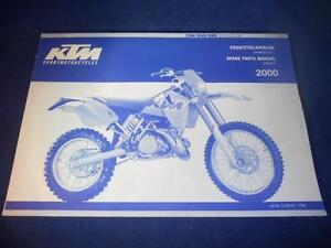 ktm spare parts manual chassis 2000 250 300 380 sx mxc ebay. Black Bedroom Furniture Sets. Home Design Ideas