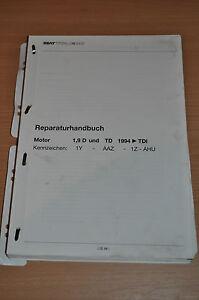 Automobilia Werkstatthandbuch Reparaturleitfaden Seat Toledo Motor 1,9 D Td 1994 Tdi Service & Reparaturanleitungen