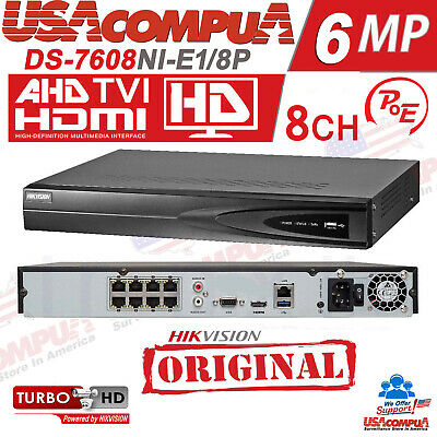 HIKVISION NVR 8 CHANNEL 8CH POE  DS-7608NI-E2//8P 5MP H.264 8ch PoE Network  NVR