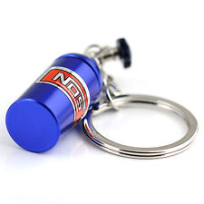 Schlüsselanhänger NOS Lachgas Tuning Anhänger Lachgasflasche Nitrous blau NEU