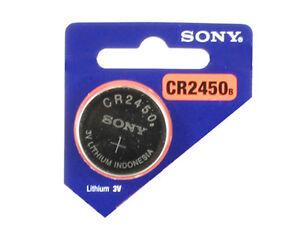 2x-Pila-Bottone-Sony-CR2450-Batteria-Litio-3V