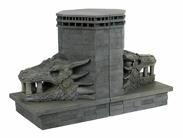 GAME OF THRONES - Dragonstone Gate Dragon 7.5  Bookend Set (2)   Dark Horse  NEW