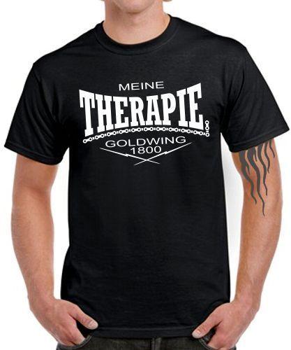 Motorrad Spruch lustig Zubehör GOLDWING 1800 Tuning T-Shirt MEINE THERAPIE .