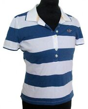 new HOLLISTER by ABERCROMBIE & FITCH striped polo tshirt shirt top SMALL