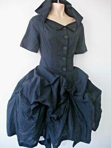 ALL SAINTS SUPREME Dress Black Cotton