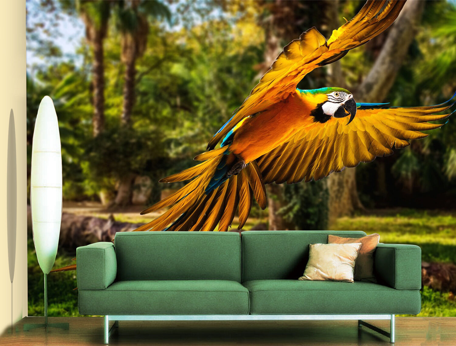 3D Grove Parrot 800 Wallpaper Mural Paper Wall Print Wallpaper Murals UK