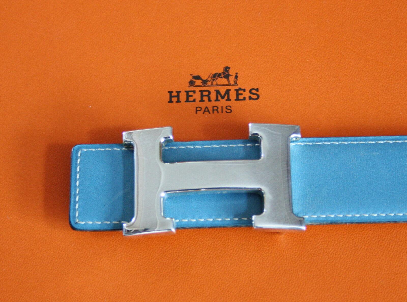 HERMÈS GÜRTEL 32mm MIT SILBERNER HERMES SCHNALLE - Größe: 78 - 100% ORIGINALWARE