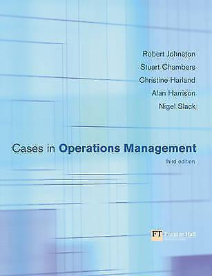 1 of 1 - Cases in Operations Management 3rd ed Johnston et al