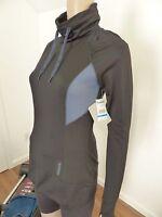 Reebok Womens Pullover Hoodie Black Xs & S Sweat Shirt Top $60