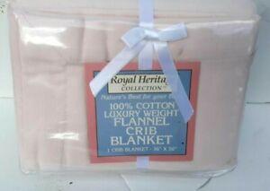 Royal Heritage Luxury Flannel  Baby Blanket 36X50 NWT