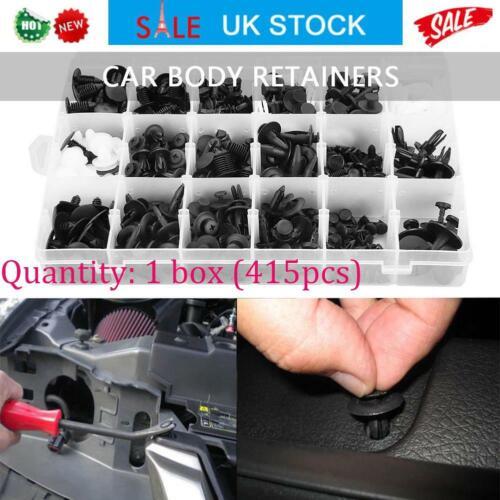 415Pcs 18Sizes Assorted Clip Trim Car Push Pin Rivet Bumper Door Panel Kit W//Box