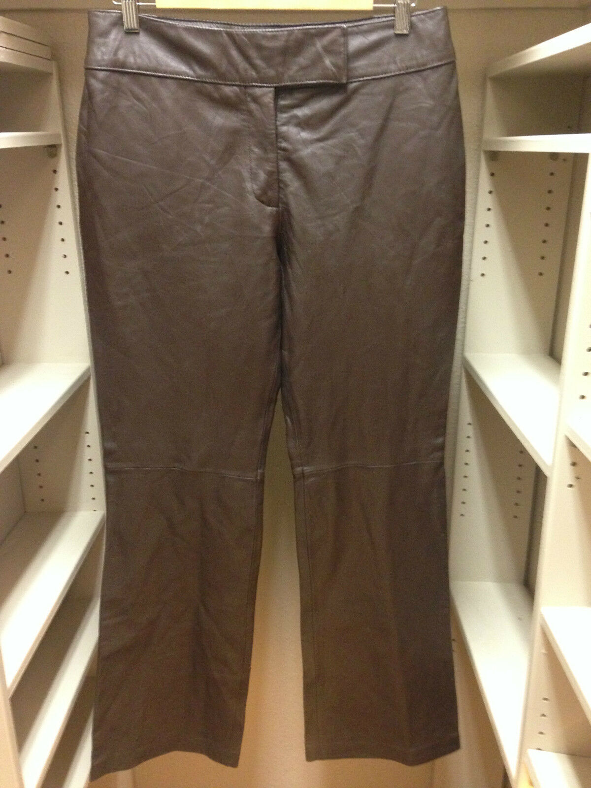 INDUSTRY Genuine Leather Soft Pants Brown Size 10