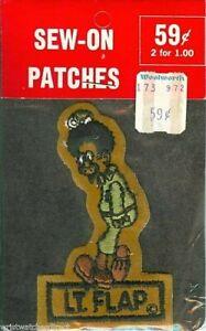 Rare-Vintage-Beetle-Bailey-Lt-Flap-Comic-Newspaper-Comic-Strip-Patch-New-NOS