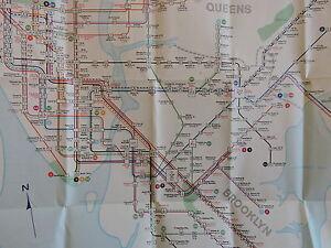 Nyc Subway Map Ebay.Details About Orig 1969 Revision New York City Nyc Subway El Transit Train Map