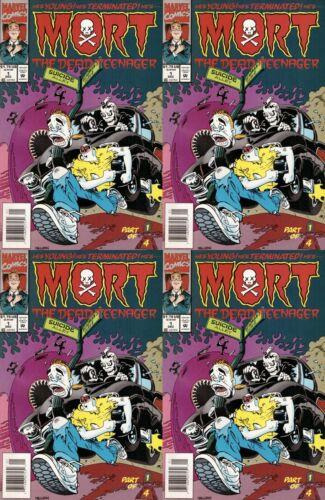 Mort the Dead Teenager #1 Newsstand Covers 1993-1994 Marvel 4 Comics