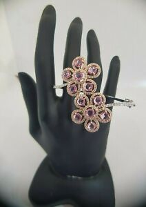 18Carat-Rose-and-White-Gold-Diamond-amp-Pink-Sapphire-Hinged-Bangle-2-03-carats