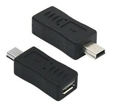 Mini USB Male to Micro USB Female B Type Adapter Connector Converter