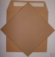 """25x 7"""" 600grm STRONG BROWN MAILER + 25 xSTIFFENERS NEW^"""