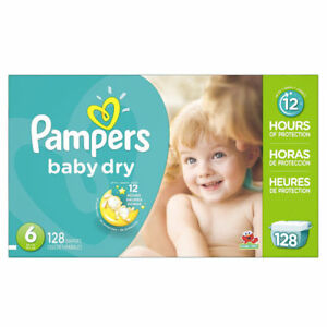 95d5bd38742cb Pampers Baby Dry Economy Pack Plus Size 6 - 128 Count for sale ...