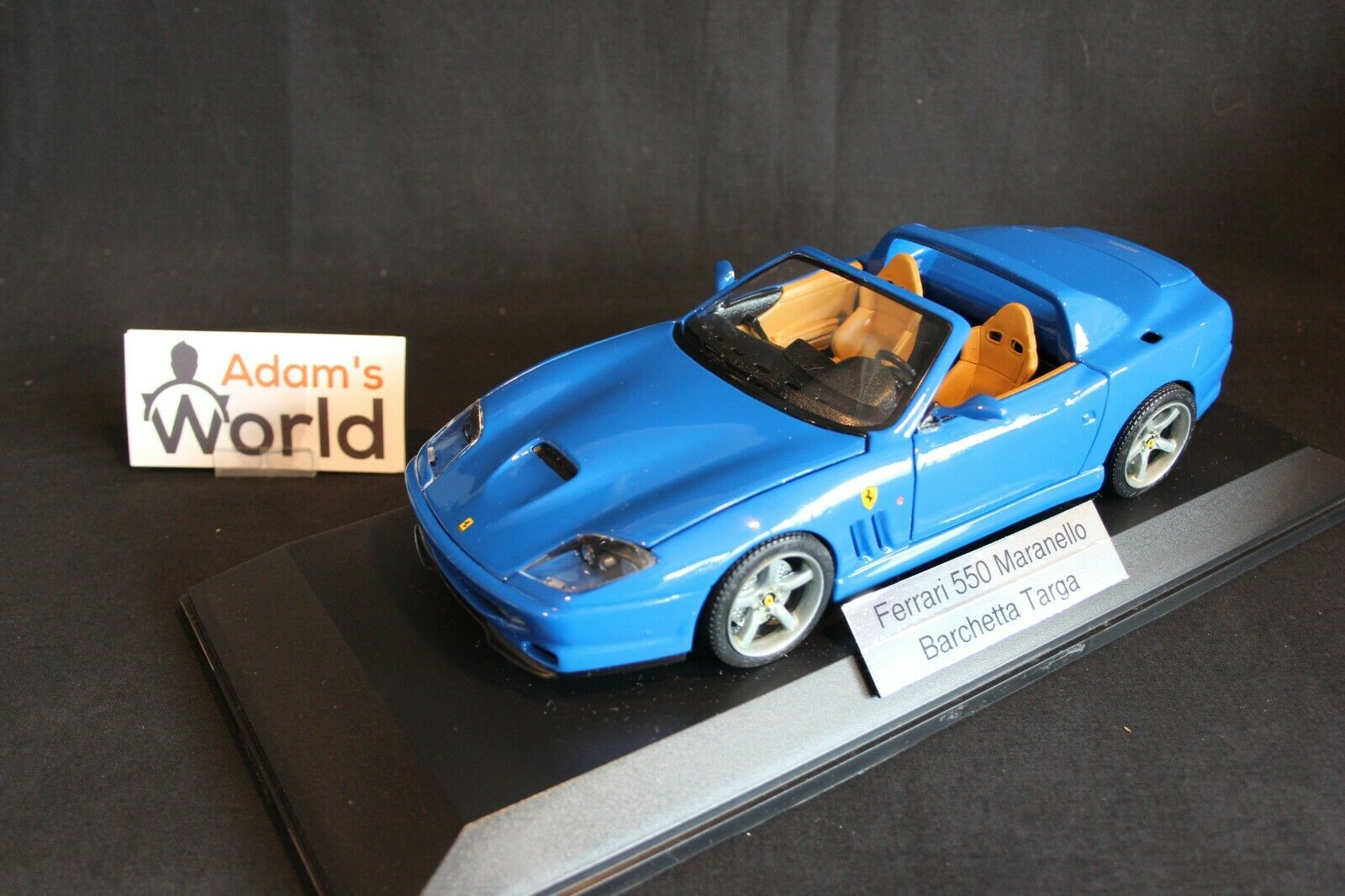 Bburago built transkit Ferrari 550 Maranello Barchetta Targa 1 18 Blau (PJBB)