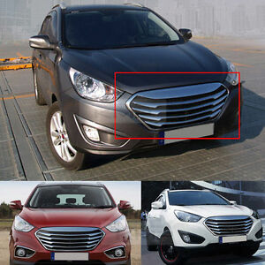 chrome front hood radiator tuning grille grill for hyundai. Black Bedroom Furniture Sets. Home Design Ideas
