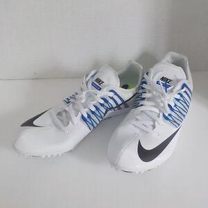 NEW Nike CELAR V Sprint Running Shoes 629226 100 MEN 8 with Extra Spikes & SRT
