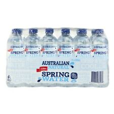 24Pck Coles Australian Natural Spring Water 100% Recycled Bottle Drink 600mL