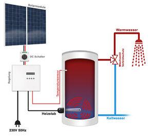 warmwasser solaranlage f r 4 5 pers mit solarelektrischer warmwasserbereitung ebay. Black Bedroom Furniture Sets. Home Design Ideas