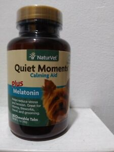 NaturVet  Quiet Moments Calming Aid for Dogs  Plus Melatonin Helps Reduce Stress