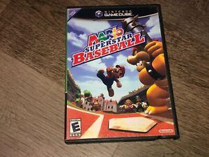 Mario-Superstar-Baseball-Nintendo-Gamecube-Wii-w-Case-Authentic