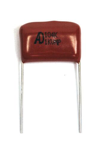 100pc Metallized polypropylene film capacitor MPR 104K 0.1uF 1KV 1000V ±10/% AID